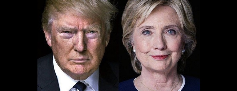 Hillary Clinton vs Donald Trump in the US Presidential Election 2016 >